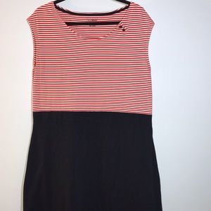 Red, white and Blue sleeveless knit LL Bean dress